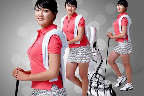 Lee Hye-In, ad of puma golf
