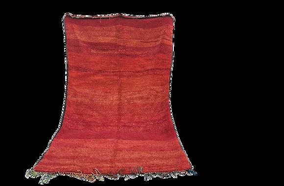 R64-Antique Boujad Rug Year 1952. Handmade Berber Wool rug. 10.9x 5.5 ft