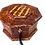 "Thumbnail: T18- Marquetry Jewlery Box .Diametr 9.4""x 7""height"