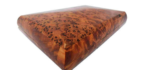 T79- Stunning Jewelry box made of the Thuya Bul 6.6x4.7x1.1// 17x12x3cm.