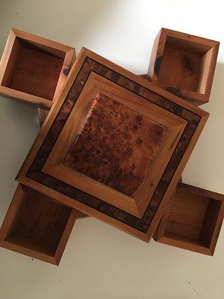 "T45-  Magical twisty Box. Jewelry, CufflinksBox 7.8x7.8x2.3""//20x20x6cm"