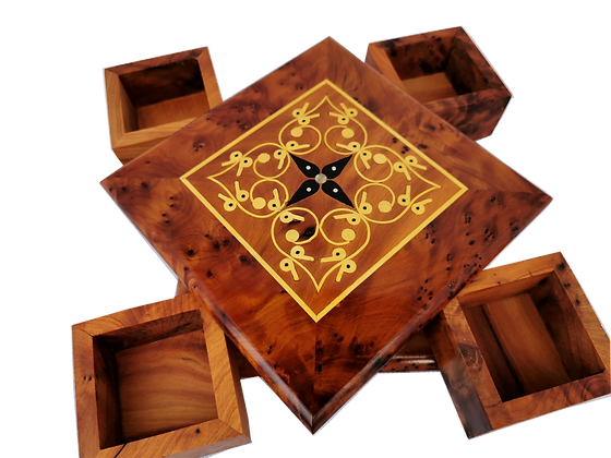 TB31-Magical Jewelry box 6.2x6.2x1.9 inch