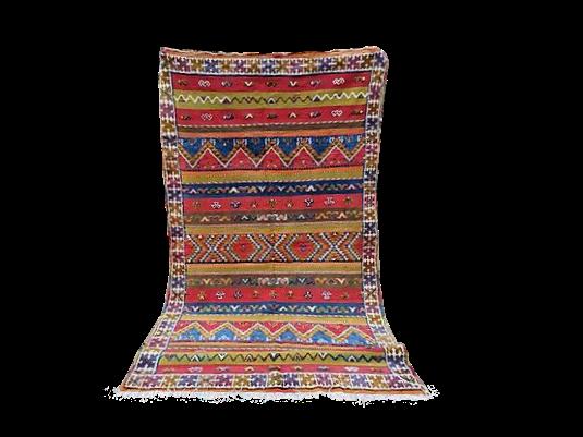 R28- 8.8x5.2 ft-270x160Handmade MoroccanTribal Rug Berber Design