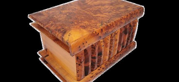 "T5- Medium Secret  BoxPuzzle Box . Magical Box  5.9x3.9x3.5""//15x10x9cm"