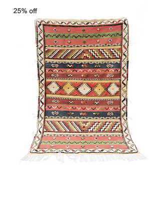 R24- 5.5x3.4ftTribal Colourful Moroccan Berber Rug made of Camel Hair