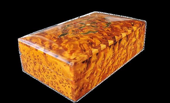 "30% OFF ELegant Handmade JeWelry Cufflinks Box. inlaid with silver 7.8X5"""