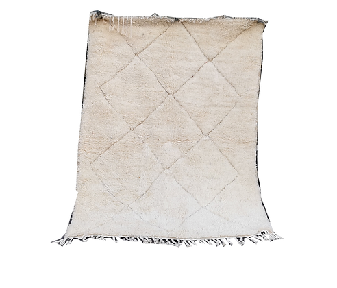 R68- Genuine Beni Ouarain Rug. Handmade Moroccan berber Carpet 5.9x3.8 ft