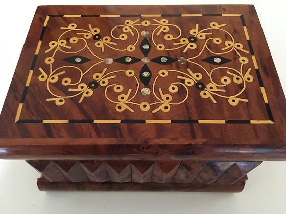 "T12- Puzzle secret Box. Magical Box 7x5.1x4.7""//18x13x12cm"