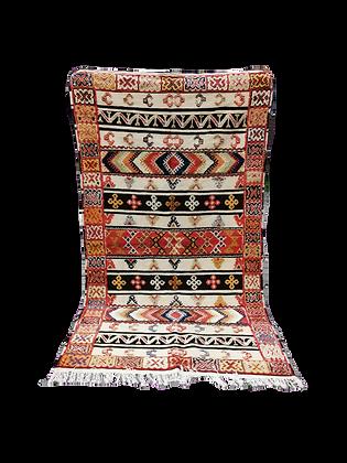 R7- 8.5x4.7//260x144cm   Moroccan Berber Glaoui Rug Camel hair.