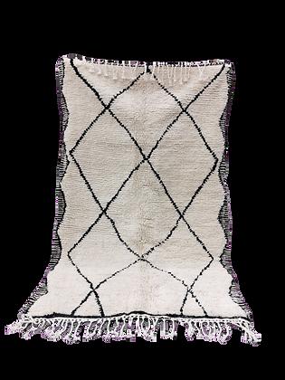 R29- Genuine Moroccan Berber Beni Ouarain Rug 7.8x4.9 ftNatural wool