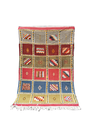 R19-New Tribal Moroccan Rug. Berber Design 5x3.4 ft