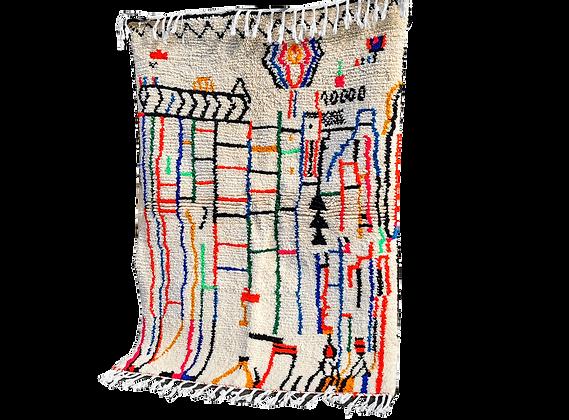 Moroccan Rug Handmade Wool Rug