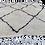 Thumbnail: R58-Moroccan Berber Beni Ouarain Rug. Natural wool. 5x3.2 ft
