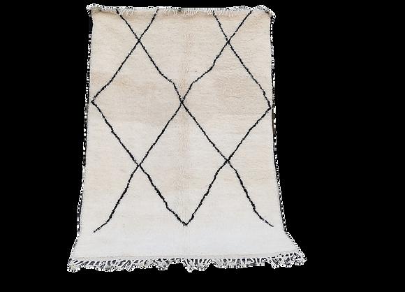 R67- 7.8x5 ft Cream Handmade Berber Rug Living room  Carpet 240x153 cm
