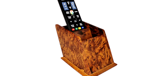 T94- 2Remote Contrl Holder Thuya Burl 6x3.10x3.5
