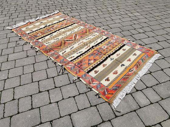 R5- 7.3x3.5 ft - 225x107cm Handmade Moroccan Berber Rug