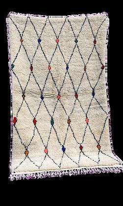 R30-Handmade Colourful Moroccan Rug Azilal Berber Rug Beni Ourain Carpet 6.9x4f
