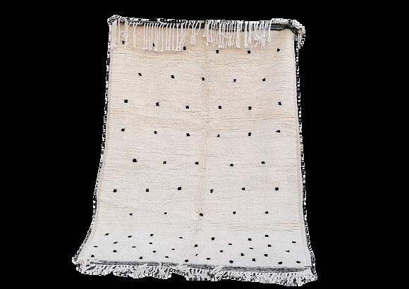 R70-6.2x4.1 ftHandmade Wool Rug< Moroccan BerberBeni Ouarain