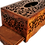 Thumbnail: T34- Hand Carved Tissu Box. High Quality Marquetry 10.2x5.5x3.9""