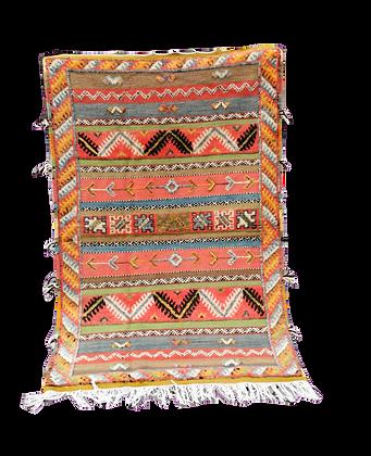 R2 -5.2x3.3t//160x103cm-Moroccan Berber Glaou Rug Camel Hair