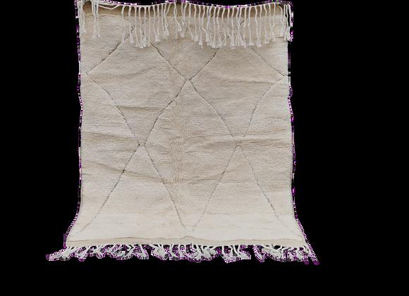 R41- 5.5x4.1 ft New Design Moroccan Handmade Beni Ouarain Rug,100% wool