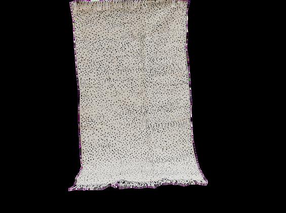 R42- Beni Ouarain Moroccan Beber Rug. Natural Wool  7.2x3.7 ft