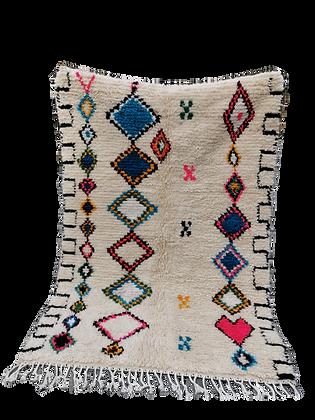 R12-7.2x4.7/220x146 Handmade Moroccan Azilal Rug. Abstract Genuine Berber