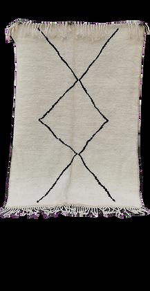 R45-Genuine Beni Ouarain Rug. Handmade Moroccan berber Carpet5.9x3.8 ft