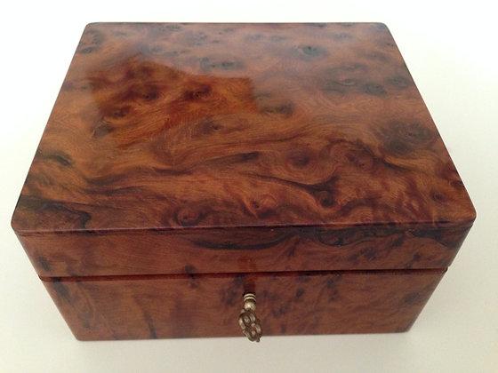 T39- Thuya Burl Jewellery Box Cufflinks Box