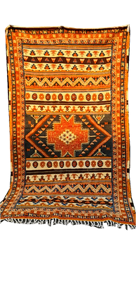 8.5x4.8//260x150cm Pure Wool Moroccan Berber Glaoui Rug Camel hair.