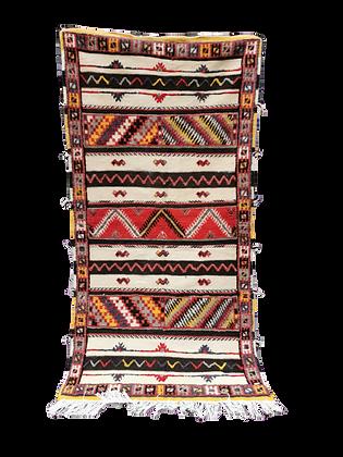 R25- 4.8x3.8ft 200x100cm Moroccan Wool Rug Beni Ouaraian