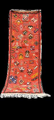 R52-Moroccan Berber Runner. Hand woven. 6.8x2.3 ft