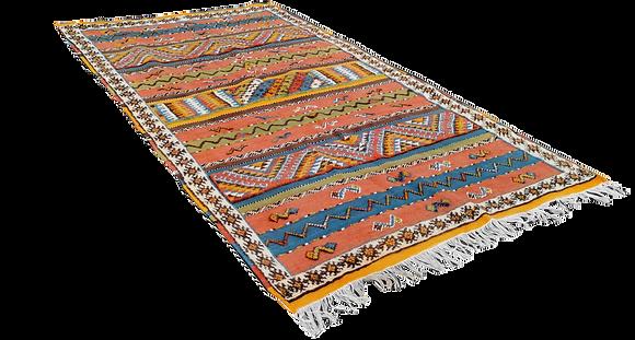 R57- Colourful Moroccan Beber Rug. Handwoven Camel Hair.8.5x4.6 ft