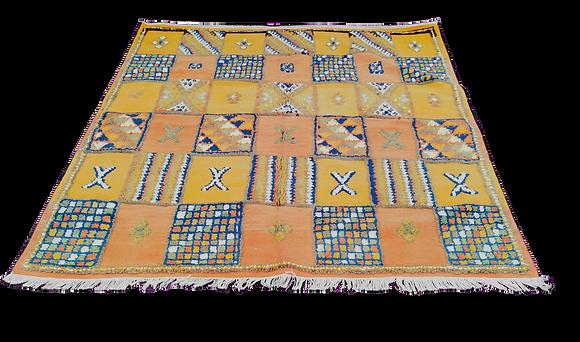 R32- Handmade Moroccan Berber Rug. Camel hair.5.2x4.7ft/ 160x145cm