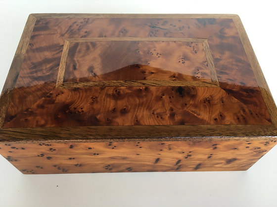 T3- Thuya Burl Box Jewelry box, Cufflinks Box 18x12x6cm