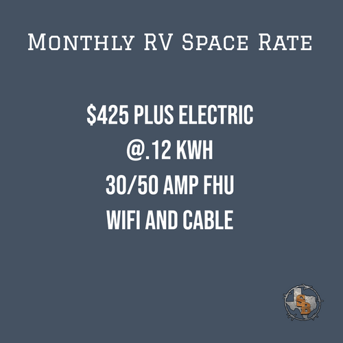 Monthly RV Space Rate