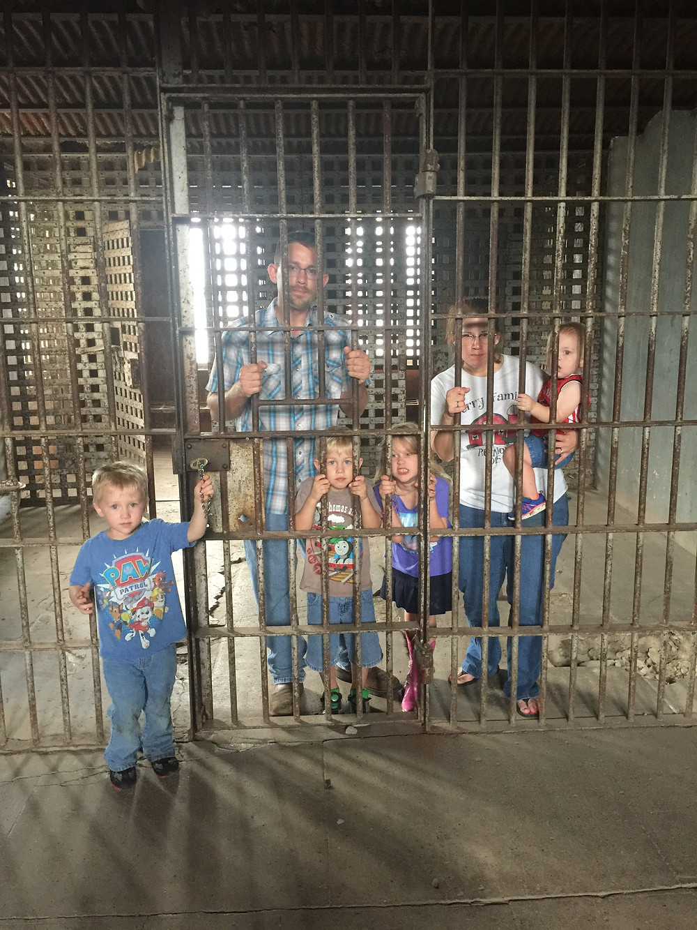 Visiting the historic Gonzales jail while we wait for hurricane Harvey to arrive