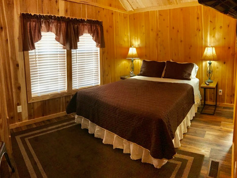 Who says tiny living can't be luxurious? Cabin 6 ready for its first guest.....