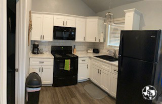 Kitchen at one of our fully furnished cabins