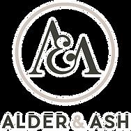 Alder and Ash Logo white stroke.png