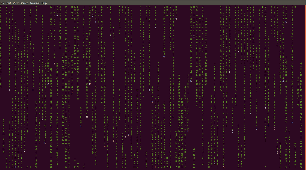 matrix effect command in linux