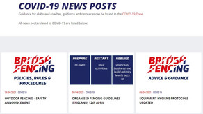 Latest COVID-19 News from British Fencing