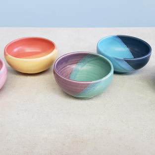 Colorful Pottery Bowls