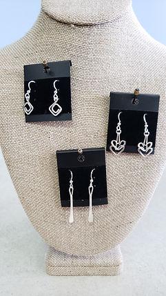 silver earrings, hearts, gift, celebrate, florist, highlands ranch colorado