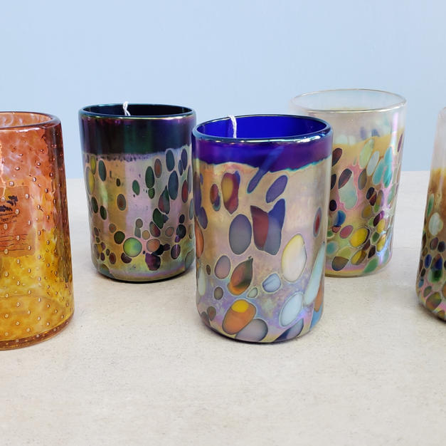 Blown Glass Drink Glasses