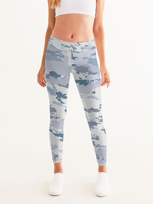 Women's Active Comfort Sport White Coast Camo Yoga Pant