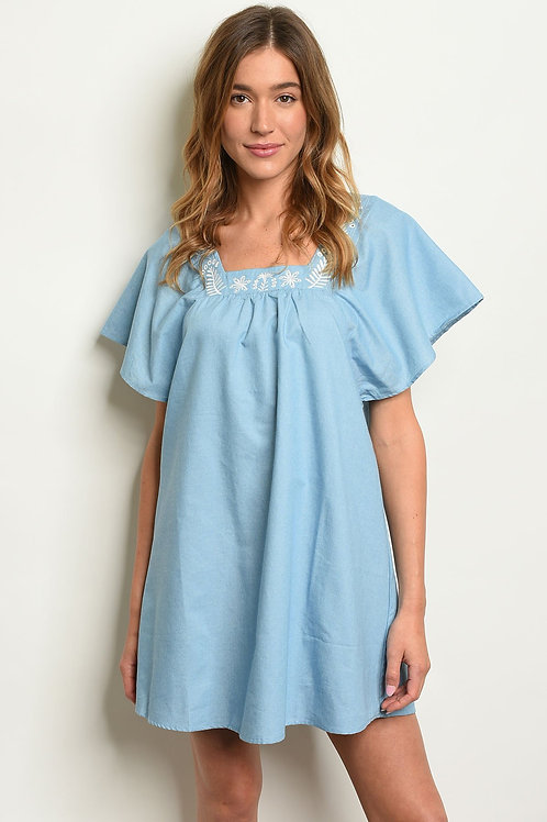 Womens Denim Tunic Dress