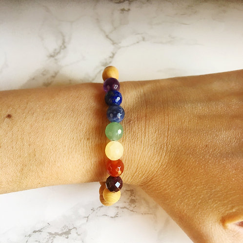 7 Chakras - 7 Different Gemstones & Sandalwood