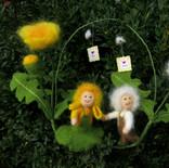 Löwenzahn-Pusteblumen-Paar (hängend)
