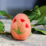 Ostereier mit Tulpenmotiv (hängend)